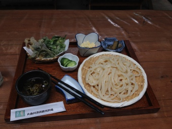 Delicious cold udon.