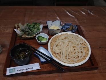 Delicious cold udon.