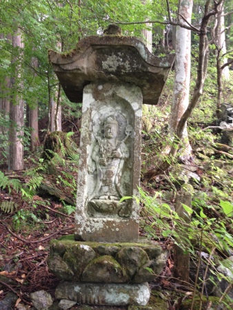 A Buddhist relief. There were many of these along the path.
